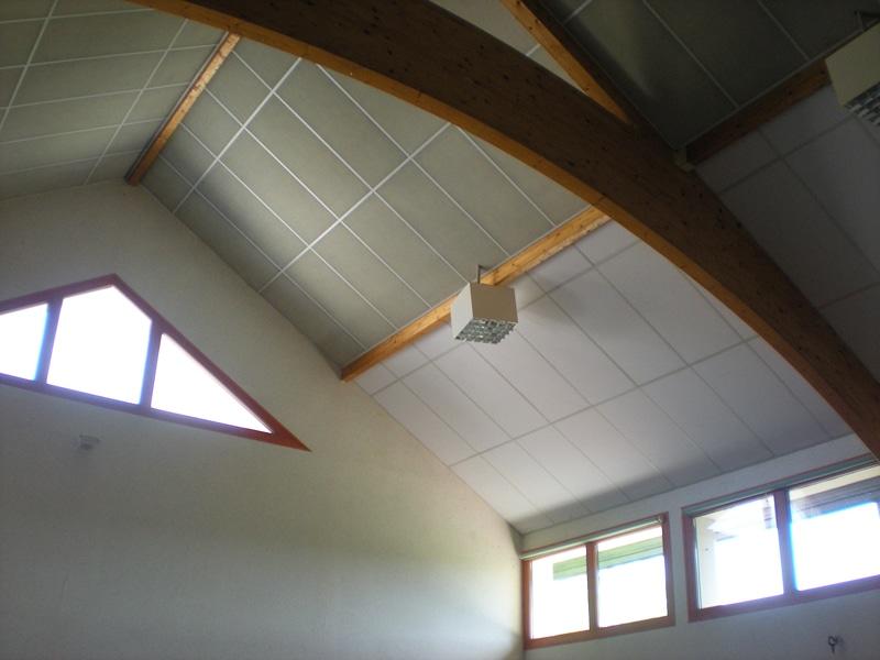 Renovation plafond salle des fetes